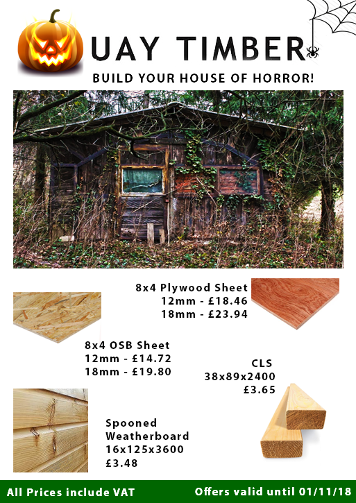 October Offers on Shed building supplies
